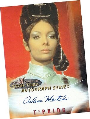 Women Of Star Trek In Motion: A3 Arlene Martel - T-Pring Autograph/Auto Card