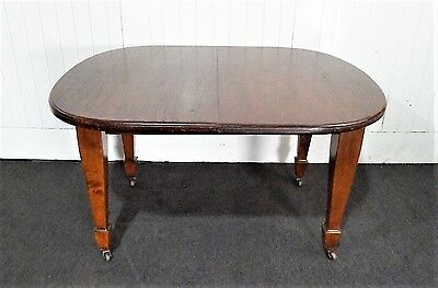 Antique Victorian style mahogany dining or kitchen table