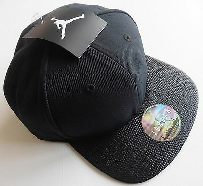 Adult Air Jordan Unisex Snapback Cap Nike Jumpman Black Basketball New Tags