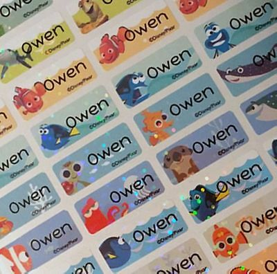 88 SMALL Personalized Finding Dory Nemo personalized Waterproof Name labels