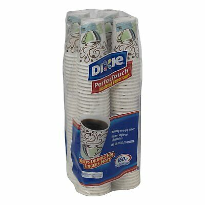 Dixie 12 oz To Go PerfecTouch Insulated Paper Hot Coffee Haze 100 cups w/ Lids