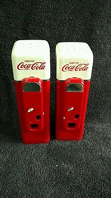 """Coca Cola Salt and Pepper Shakers- 5"""" Tall"""