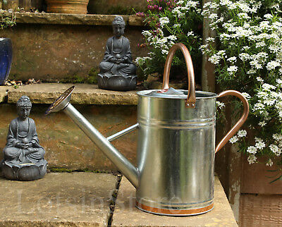 Steel watering can holds 2 gallons (9 litres ) galvanised metal