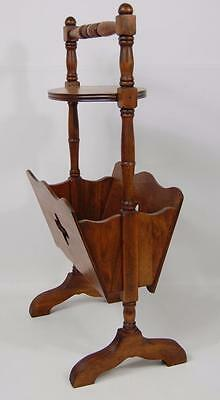 Antique Accent Side End Table Magazine Rack Storage Caddy