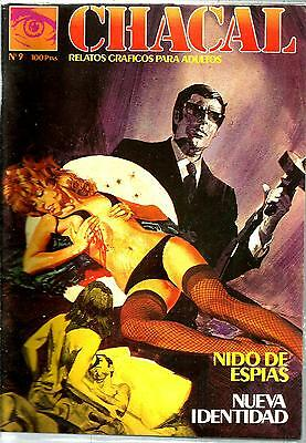 Spanish 1970's Illustrated Erotic Magazine Chacal #9 Fine