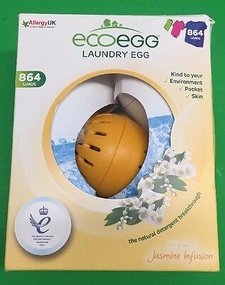 Ecoegg Laundry Egg 864 Loads Jasmine Infusion Eco-friendly and Hypoallergenic !!