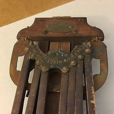 PERFECTION CLOTHES DRIER L. HOPKINS 1887 Antique Victorian Wooden Clothes Dryer
