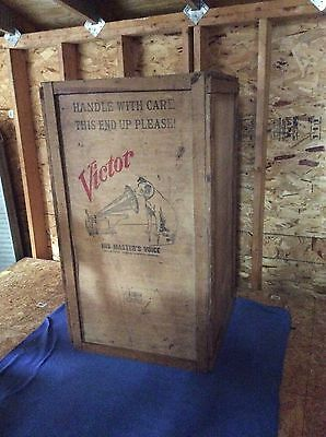 Authentic Original Victor Talking Machine Company Shipping Crate Extremely Rare!