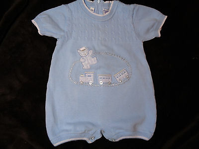 Vintage Baby Boy's One Piece Outfit, By Friedknit Creations, Size 6 Months