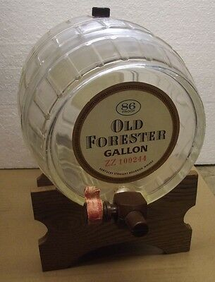 Vintage Bottle Old Forester Gallon Keg with Stand,  Kentucky Bourbon  **EMPTY***
