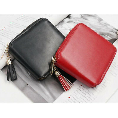Fashion Women Leather Small Wallet Card Holder Zip Coin Purse Clutch Bag Handbag