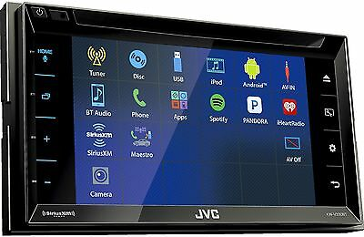 "NEW JVC KW-V330BT 2 DIN DVD/CD Player 6.8"" LCD Android iPhone Bluetooth SiriusXM"