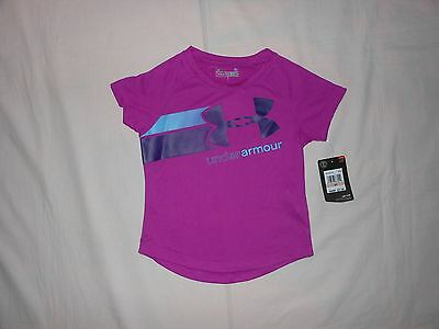 NWT Under Armour Toddler Girls shirt top, Size 2T & 3T