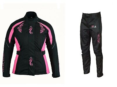 Ladies Shannon Waterproof Wind proof Motorcycle Motorbike Trouser WITH CE ARMOUR