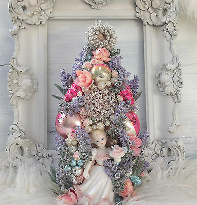 Easter Bottle Brush Tree, Marie Antoinette and Pink Spaghetti Poodle