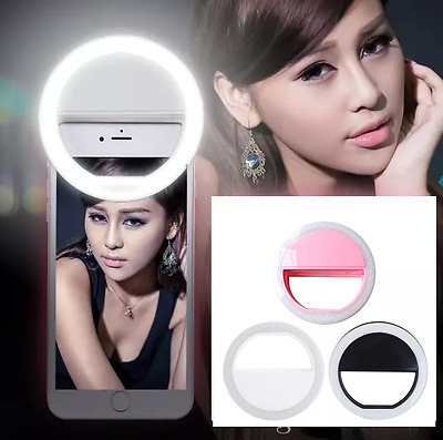 Selfie Ring Fill Flash Light LED - Rechargeable, fits most cell phones