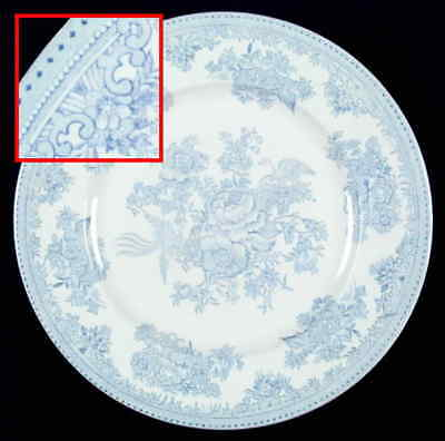 Burgess & Leigh ASIATIC PHEASANTS BLUE Dinner Plate 42870