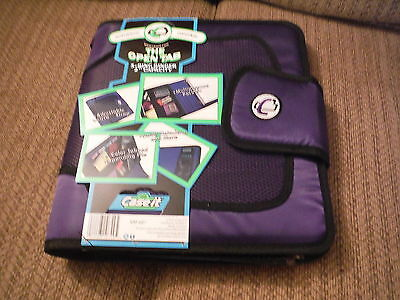 """NEW Case It The Open Tab 3 Ring Binder 2"""" Capacity - PURPLE"""