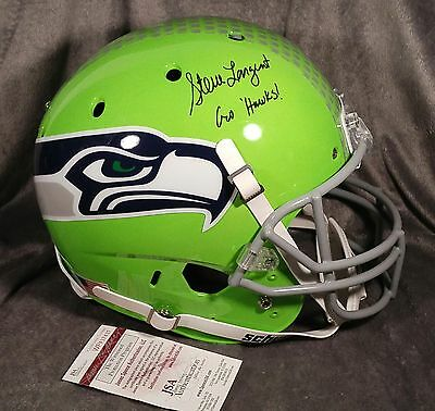 Steve Largent Signed Seattle Seahawks Full Size Helmet Jsa Witness