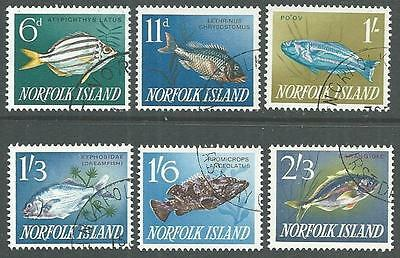 NORFOLK IS 1962-63 Fish set of 6 fine used.................................64988