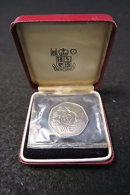 1973 Great Britain Royal Mint uncirculated 50 pence piece - with case - AWESOME!