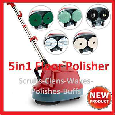 NEW 5 in1 Floor Polisher Buffing Machine Carpet & Hard Surface Bonnet Machine
