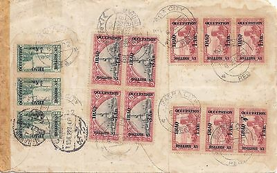 Iraq Turkey 1922 Multi Franking Registered Cover From Basra To Egypt