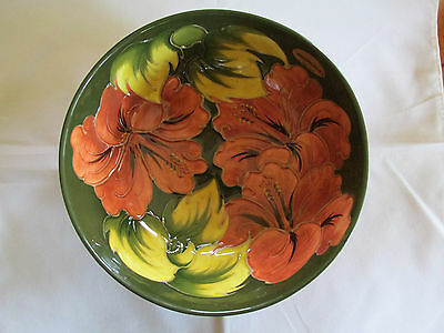 Limited Edition Large Moorcroft Hibiscus Bowl New Old Stock Number 30 of 200