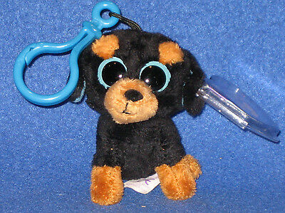 TY BEANIE BOOS - TUFFY the DOG KEY CLIP with TAG - SEE PICS