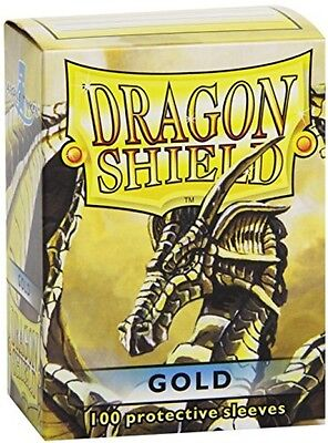 Dragon Shield Sleeves - GOLD - Standard Size Deck Protectors (100 Ct) [Toy]