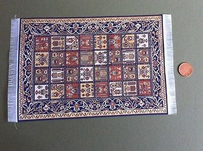 Large Pattern Rug 4, Doll House Miniature, Rug Mat Flooring Accessory 1.12 Scale