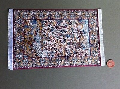 Woven Pattern Rug 3, Dolls House Miniatures, Mats & Rugs 1,12 Scale Accessory