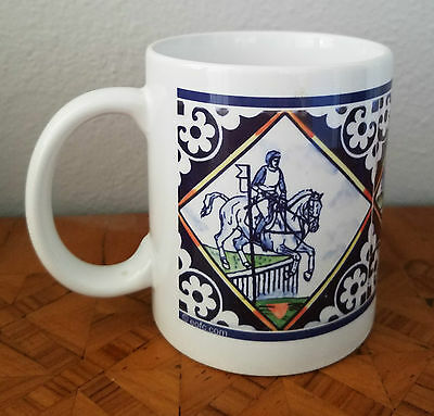 NEW ** Horse theme Ceramic Mug ** Eventers, horses over jumps, 12oz MUG B