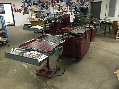 1994 Moll Marathon with Final Fold and Dial-a-Stack Folder Gluer Hot Melt
