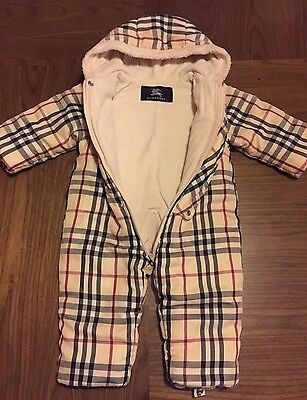 Baby Boys or Girls Burberry Snowsuit 6 - 9 months Babies Designer Pram Suit
