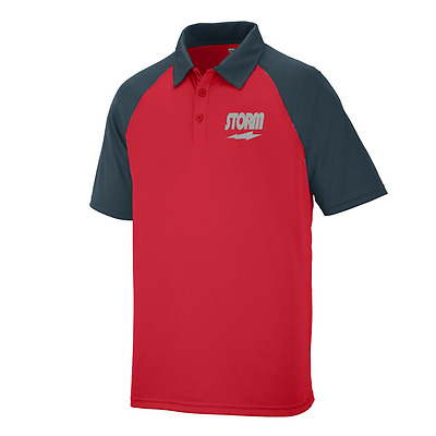 Storm Men's Domination Performance Polo Bowling Shirt Dri-Fit Red