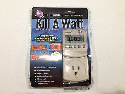 Electricity Usage Power Consumption Monitor Meter In-line Ammeter Kill A Watt P3