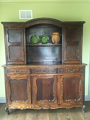 Antique Country French Buffet Deux Corps, beautiful and holds a lot – two pieces