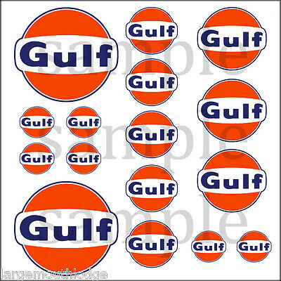16 Gulf Hobbie Decals Decal Quality Waterslide Truck Train Diorama Layout