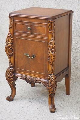 Carved by The Hand of A True Master Carver Antique Side-Nightstand End Table