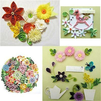 Assorted Quilling Paper Quill Craft Strips Origami Mixed Colors Papercraft Jian