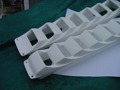 "Boat Bilge Blower Exhaust Louver Side Vent White 17"" Long New"