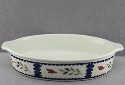 "Estate Dinnerware Vintage Adams Lancaster Ironstone 10.25"" Oval Baker Micratex"