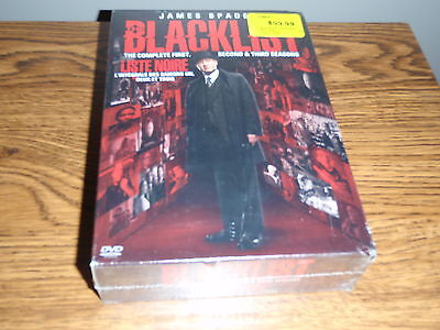 The Blacklist The Complete First Second & Third Seasons Dvd Box Set New Sealed