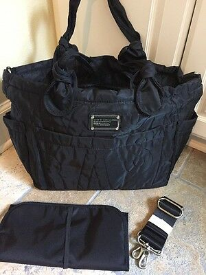 NEW & SOLD-OUT Marc Jacobs Pretty Black Nylon Eliz-a-baby Large Diaper Bag NWT!
