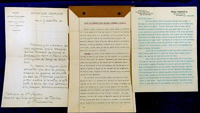 1891 to 1895 PHILADELPHIA Letters & Investment Agreement French Technology