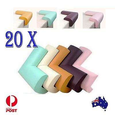 20x Child Baby Safety Soft Protector Table Corner Edge Protection Cover