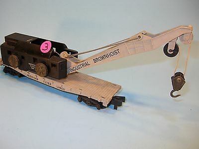 3. AMERICAN FLYER S Scale 24561 INDUSTRIAL BROWNHOIST CRANE TRAIN CAR