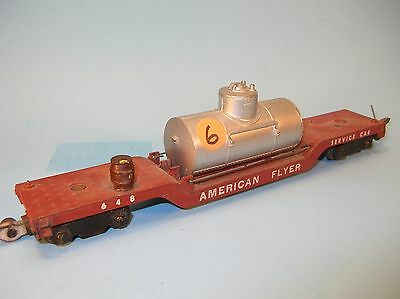 6. AMERICAN FLYER S Scale 648 Lowboy SERVICE CAR TRAIN