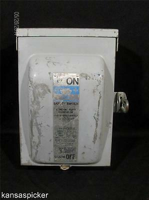 Gould NR-322 60 Amp 240v Fusible Safety Disconnect Switch NEMA 3R